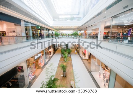 Modern shopping mall. Shopping centre