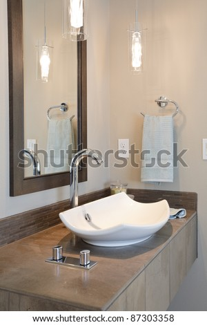 Modern Sink in Newly Constructed Bathroom