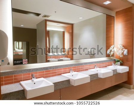 modern sinks with mirror in...