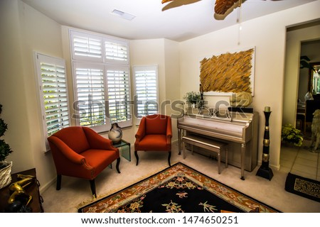 Modern Sitting Room With Piano