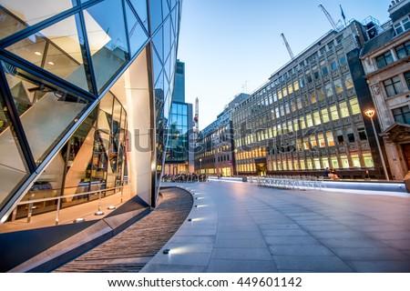 Modern skyline of London City. #449601142