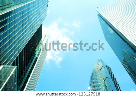 Modern skyscraper in Singapore, Singapore - stock photo