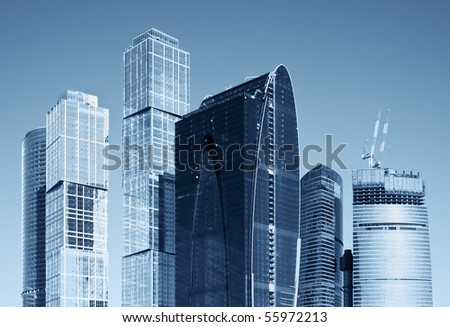 modern skyscrapers business center of glass and metal