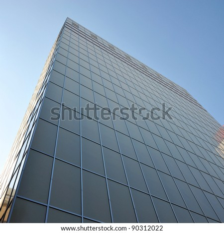 Modern skyscrapers close-up, office tower. - stock photo