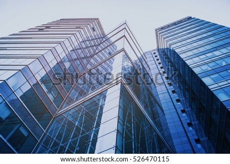 Modern skyscrapers in a business district #526470115