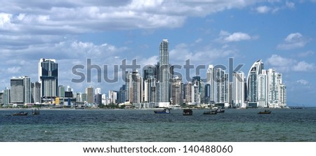 Modern skyscrapers in Panama City