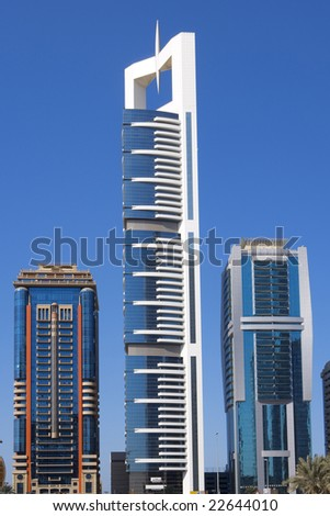 Modern Skyscrapers, Sheikh-Zayed-Road in Dubai