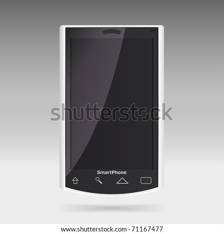 Modern smart phone for mobile communication. Look for vector version at my portfolio.