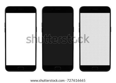 Modern smart phone on blank screen for mockup #727616665