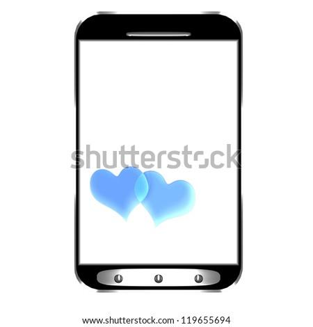 Modern smartphone with blank screen