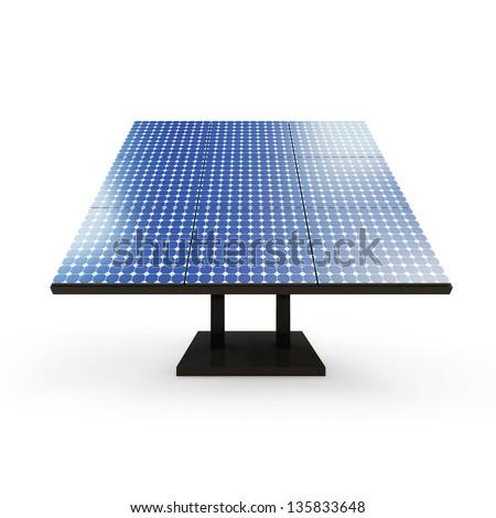 Modern Solar Panel isolated on white background