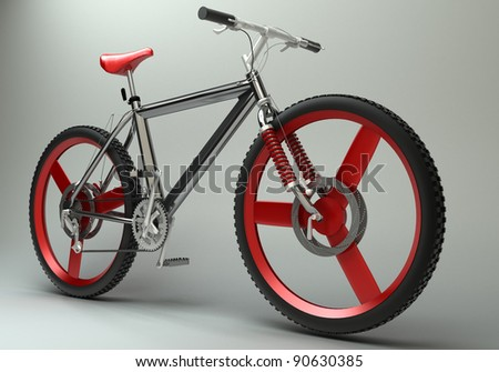 modern sport bicycle  High resolution. 3D image