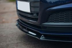 Modern sport car front lower spoiler