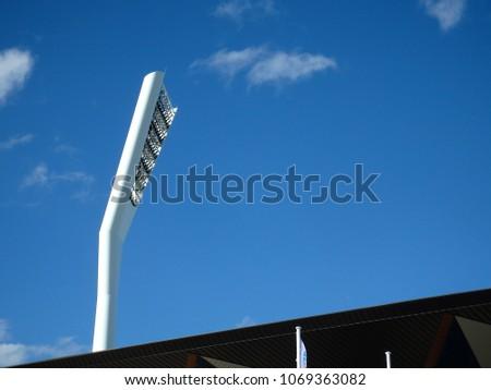 Modern sports arena illumination tower #1069363082