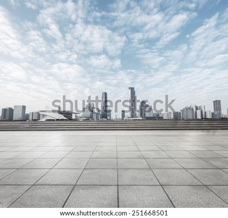 modern square with skyline and cityscape background #251668501