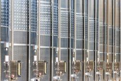 Modern stainless steel barrels for wine