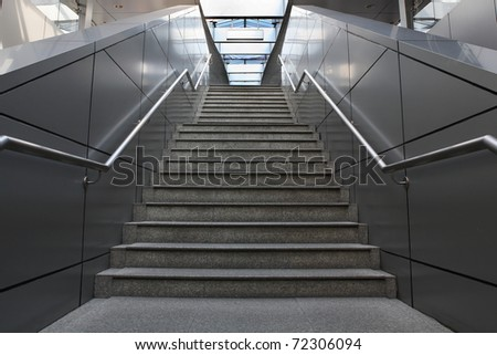 modern staircase at an office building #72306094