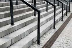 Modern staircases on street