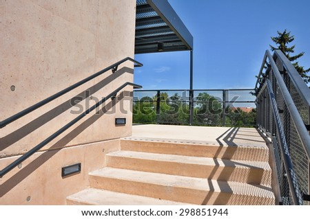 modern stairs in outside passage