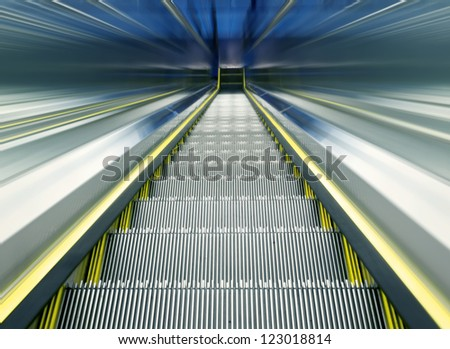modern steps of moving business escalator - stock photo