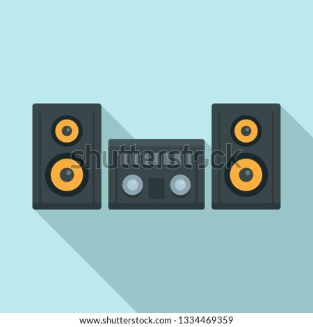 Modern stereo system icon. Flat illustration of modern stereo system icon for web design