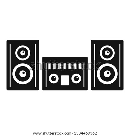 Modern stereo system icon. Simple illustration of modern stereo system icon for web design isolated on white background