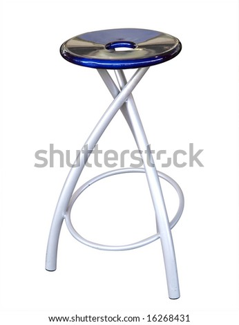 Modern Stool isolated with clipping path