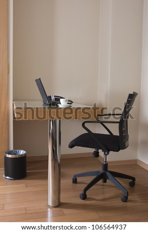 modern study room with chair and desk