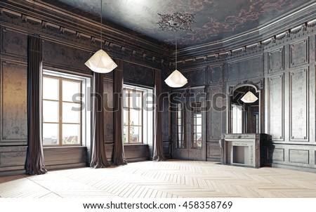 modern style black empty ...