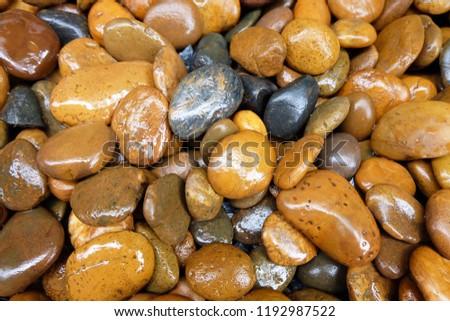 modern style close up wet round stone background wallpaper