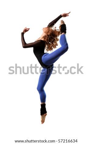 modern style dancer posing on studio background - Shutterstock ID 57216634