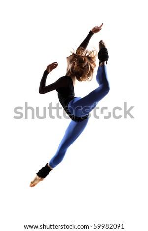 modern style dancer posing on studio background - Shutterstock ID 59982091