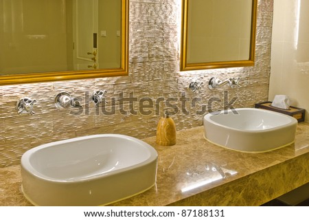 Contemporary Bathroom Designs on Modern Style Interior Design Of A Bathroom Stock Photo 87188131