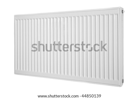 Modern style radiator on a background.