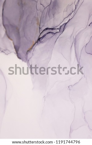 Modern style trends. Liquid ink on a purple background. Ink, paint, abstract. Closeup of the painting. Colorful abstract painting background. Highly-textured oil paint. High quality details.
