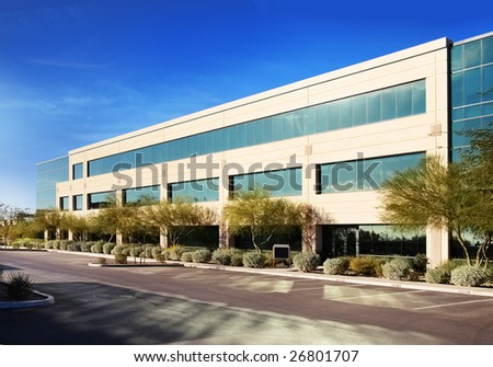 Modern stylish office building architecture