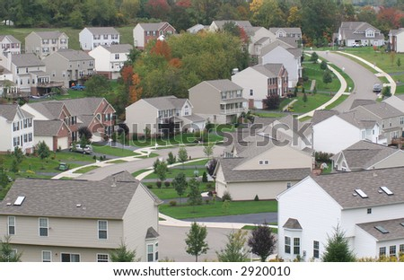 Modern suburban neighborhood.