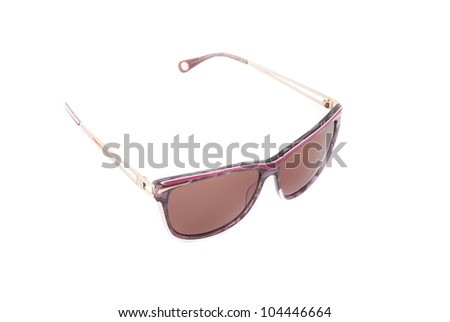 Modern sunglasses on a white background