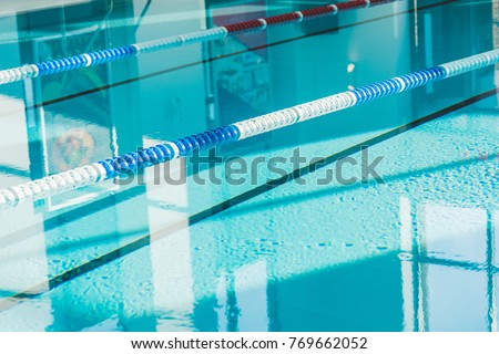 modern swimming pool at spa center