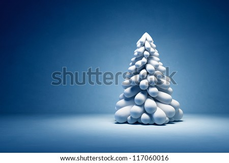 Modern symbolic Christmas tree, 3d render