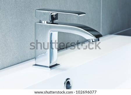 modern ta in bathroom closeup image