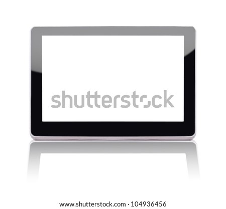 Modern tablet device over white background