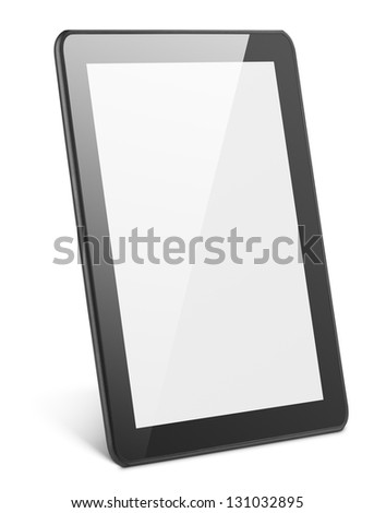 Modern tablet pc isolated on white with clipping path