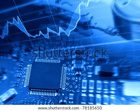 Modern technologies background with electronics components