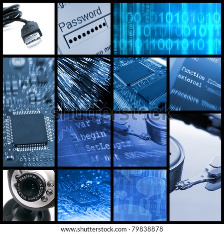Modern technologies collage