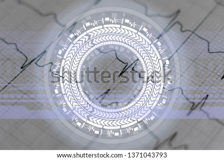 modern technology medicine analysis, 3d heartbeat projection #1371043793