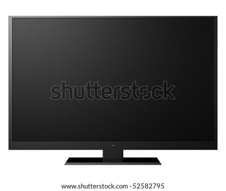 modern television, isolated on white background