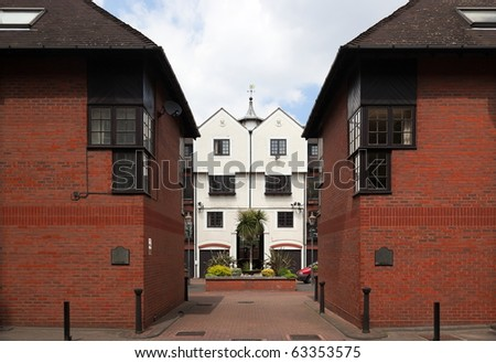 Modern Terraced Houses. Docklands, London. UK.