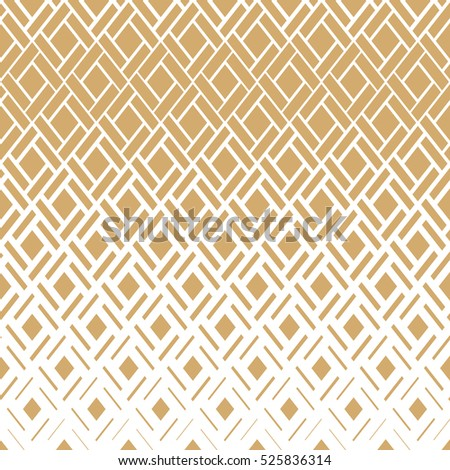 Modern  texture with rhombuses, squares . Stylish pattern. Repeating geometric tiles. Gold and white texture
