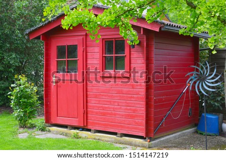 Photo of  Modern Tool Shed, Bike Shed or Garden Shed with Alloy Profile and Plastic coated Front